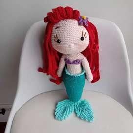 Ariel la sirenita amigurumis