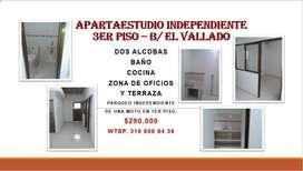 APARTAESTUDIO EN EL VALLADO 3ER PISO