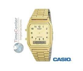 Reloj Casio Digital, Analógico, Para Hombre Aq-230ga-9bmq