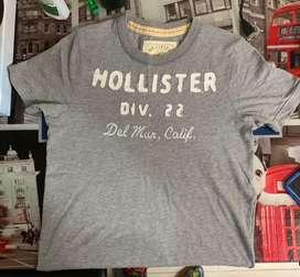 Camiseta para joven gris Hollister