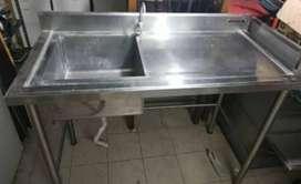 Lavaplatos de cocina un pozo en acero inoxidable