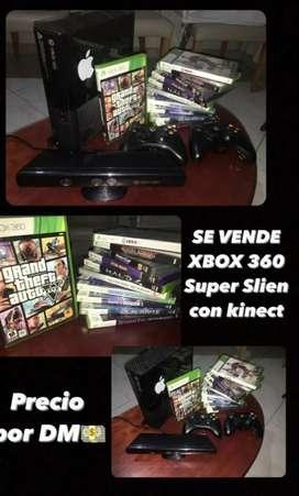 Xbox 360 súper slien  con kinect