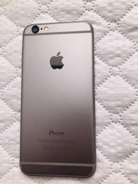 Iphone 6 en perfecto estado de 32gb bateria perfecta negro con plateado