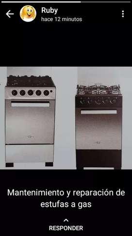 Mantenimiento y reparación de estufas a gas