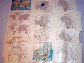antiguos mapas coleccion estrada años 60 (x14)