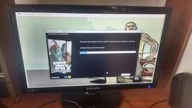 """Monitor pantalla Samsung LED cristal liquido 19"""" exelente estado"""
