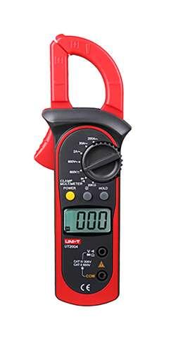 Pinza Amperimétrica Uni-t Ut200a Con Estuche Auto Rango 200a