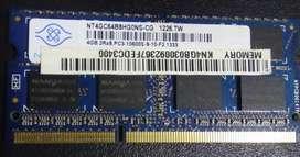 Ram Portátil 2gb Ddr3 1333mhz diferentes marcas