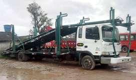 Camion tipo niñera carga de cinco veiculos modelo 2007