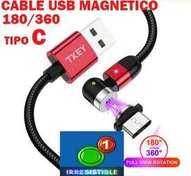 CABLE USB TIPO C 180/360 GRADOS