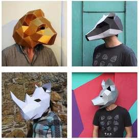 Máscaras decorativas para armar (pack 1)