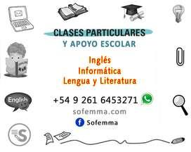 Clases Particulares y Apoyo Escolar: Inglés, Informática y Lengua.