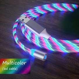 Cable de cargador magnético con luz LED
