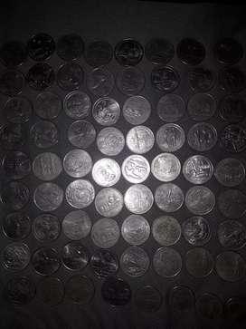 Monedas de 25 ctvs americanos para coleccion