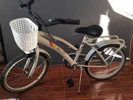 Bicicleta para niña/os rodado 20 (perfecto estado)