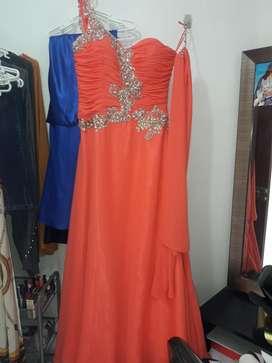 Hermoso Vestido de Fiesta con Pedreria L