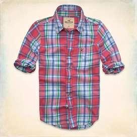 Camisa Hollister De Sarga Grandview - Importado EEUU