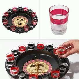 Se el anfitrion de tus fiestas eventos con este genial juego previa con amigos  incluye rulet + ronda de vasos shot vidr