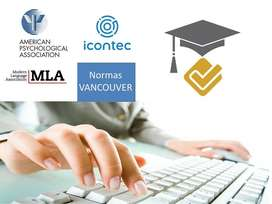 Normas APA, Vancouver, Icontec.