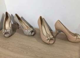 Zapatos-tacones steve madden nude y gris talla 8