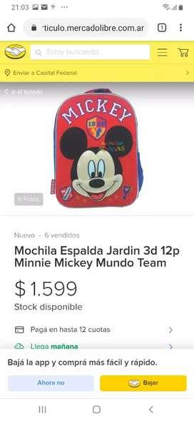 Mochila Mickey 3D