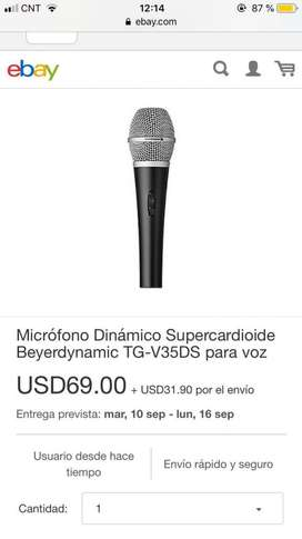 Beyerdynamic Tg-V35Ds Microfono Vocal