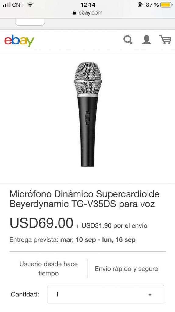 Beyerdynamic Tg-V35Ds Microfono Vocal Remato!!! 0