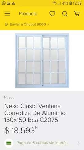 Ventana corrediza marca Nexo de 1.50 × 1 .50