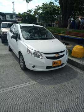 Chevrolet sail, modelo 2017, color blanco, Vehículo en perfecto estado