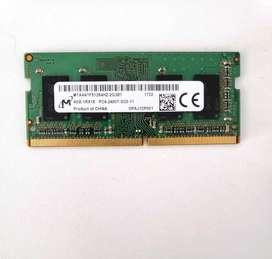 Memoria SODIMM Micron 4gb DDR4 2400mhz Nueva para Notebook