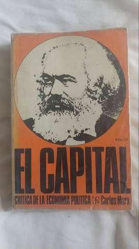 El Capital (Marx, Tomo 2 y 3), editorial Fondo Económico