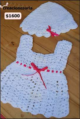 Vestido tejido antialérgico para bebés