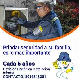 Certificación e instalación de gas natural