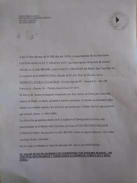 Vendo 3 terrenos ubicados en zona urbana de Darregueira