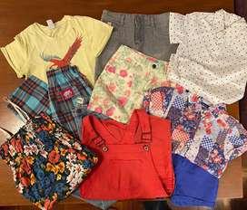 Combo 10 prendas: Remeras, blusas, shorts, jeans, elephant, vestidos, combo varios modelos talle 6/8