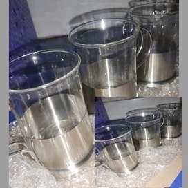 Pocillos de vidrio y porcelana