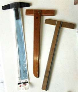 Regla T acrílico y madera