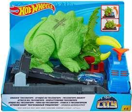 Hot Wheels Smashin' Triceratops Playset Original