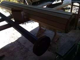Cortina de enrollar de madera ancho 1.79 x alto 1.50
