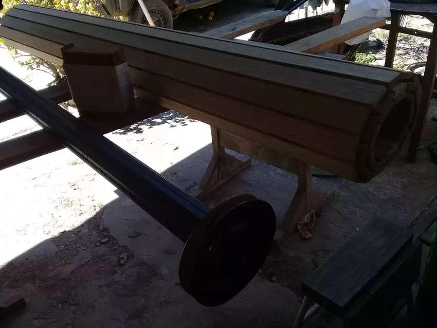 Cortina de enrollar de madera ancho 1.79 x alto 1.50 0