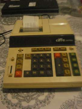 Sumadora Calculador Impresor Cifra 2117pda Funciona No Envio