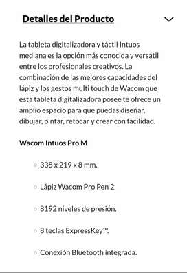 Tableta graficadora wacom intuos pro