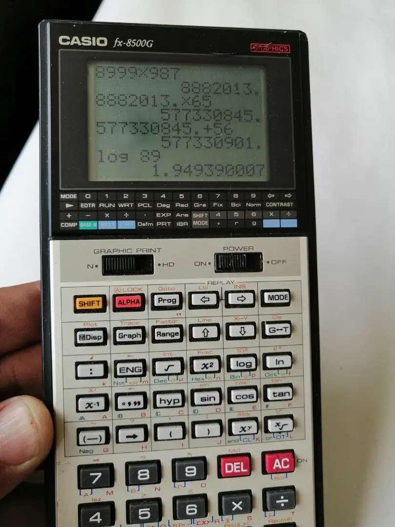 Calculadora Casio fx-8500g graficadora vintage muy buen estado la cava del libro 0