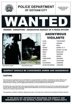 BATMAN WANTED Poster Afiche