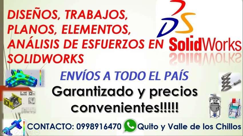 TRABAJOS SOLIDWORKS, MATEMÁTICAS, FÍSICA, GEOMETRÍA, TRIGONOMETRÍA, PLANOS 0