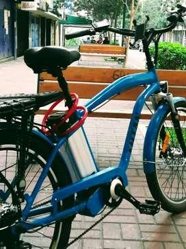 Bicimoto electrica 100%Aluminio Azul Caribe