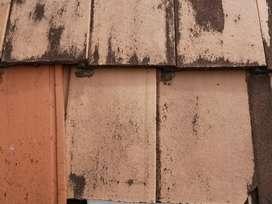 Teja de barro colonial antigua