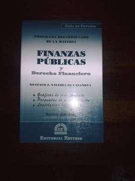 Libro Finanzas Públicas. En buen estado !!!
