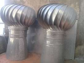 2 Extractores eólicos de techo