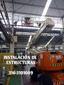 Instalación de techos , Tejas, Estructuras Metalicas